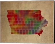 IA Colorful Counties Fine-Art Print