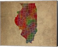 IL Colorful Counties Fine-Art Print