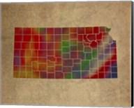 KS Colorful Counties Fine-Art Print