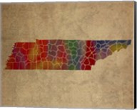 TN Colorful Counties Fine-Art Print
