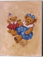 Americana Girl Teddy Fine-Art Print