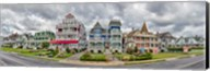 Cottages in a row, Beach Avenue, Cape May, New Jersey Fine-Art Print