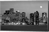 Boston at night (Black And White) Fine-Art Print