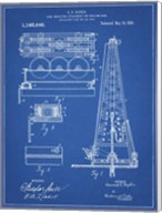Blueprint Howard Hughes Oil Drilling Rig Patent Fine-Art Print