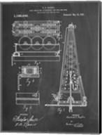 Chalkboard Howard Hughes Oil Drilling Rig Patent Fine-Art Print