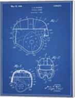 Blueprint Football Helmet 1925 Patent Fine-Art Print