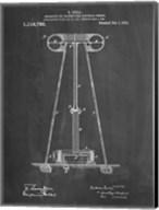 Chalkboard Tesla Energy Transmitter Patent Fine-Art Print