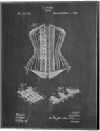 Chalkboard Corset Patent Fine-Art Print