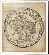 Vintage Seal VI Antique Border v2 Fine-Art Print