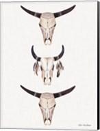 Boho Steer Head III Fine-Art Print