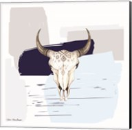 Colored Steer Head II Fine-Art Print