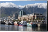 South Africa, Cape Town Victoria and Alfred Waterfront, Table Mountain Fine-Art Print