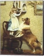 Little Girl and Her Sheltie Fine-Art Print