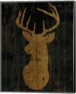 Rustic Lodge Animals Deer Head Fine-Art Print