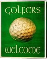 Golfers Welcome Fine-Art Print