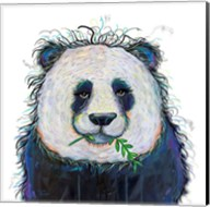 Panda with Leaf Fine-Art Print