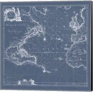 Mar del Nort Blueprint Fine-Art Print