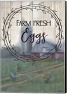 Farm Fresh Eggs Circle Fine-Art Print