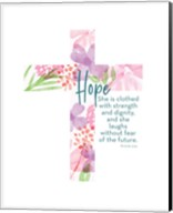 Hope Cross Proverb Fine-Art Print