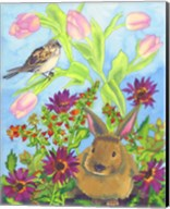 Bunny and Sparrow Fine-Art Print
