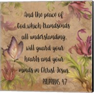 Floral Bible Verse - B Fine-Art Print