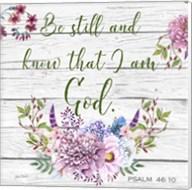 Garden Florals Bible Verse - A Fine-Art Print