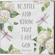 Bible Verse With Hydrangeas - A Fine-Art Print