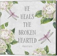 Bible Verse With Hydrangeas - B Fine-Art Print
