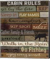 Cabin Rules On Wood Fine-Art Print
