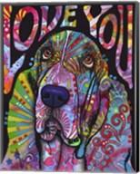 Love You Basset Fine-Art Print