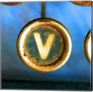 Letter V of Typewriter 'LOVE' Fine-Art Print
