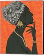 Graceful Majesty I Orange Fine-Art Print