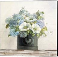 Anemones in Hatbox Shiplap Fine-Art Print