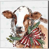 Holiday on the Farm VIII on Gray Fine-Art Print