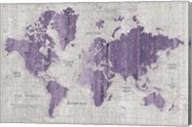 Old World Map Purple Gray Fine-Art Print