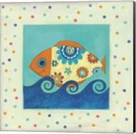Happy Floral Fish Fine-Art Print