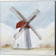 Red Windmill I Fine-Art Print