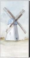 Blue Windmill I Fine-Art Print