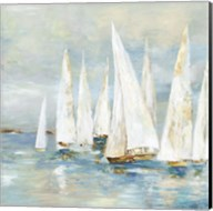 White Sailboats Fine-Art Print