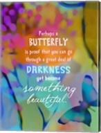 Beautiful Butterfly (words) Fine-Art Print
