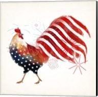 Rooster Fireworks I Fine-Art Print