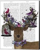 Deer Birdkeeper, Tropical Bird Cages Fine-Art Print