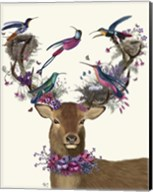 Deer Birdkeeper, Tropical Bird Nests Fine-Art Print