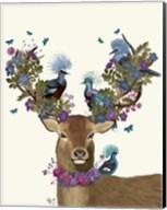 Deer Birdkeeper, Blue Pigeons Fine-Art Print