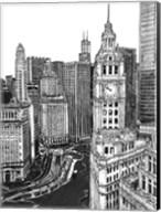 B&W Us Cityscape-Chicago Fine-Art Print