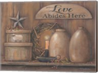 Love Abides Here Shelf Fine-Art Print
