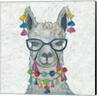 Llama Love with Glasses II Fine-Art Print