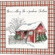 Holiday on the Farm IV Plaid Fine-Art Print