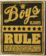 Boys Rule2 Fine-Art Print