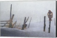 Foggy Fence Redtail Fine-Art Print